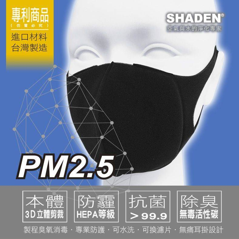 SHADEN REPLACEABLE FILTER MASK